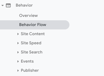 Showing path from behaviour to behaviour flow