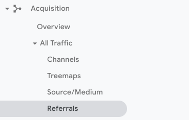 Showing path from acquisition to referrals